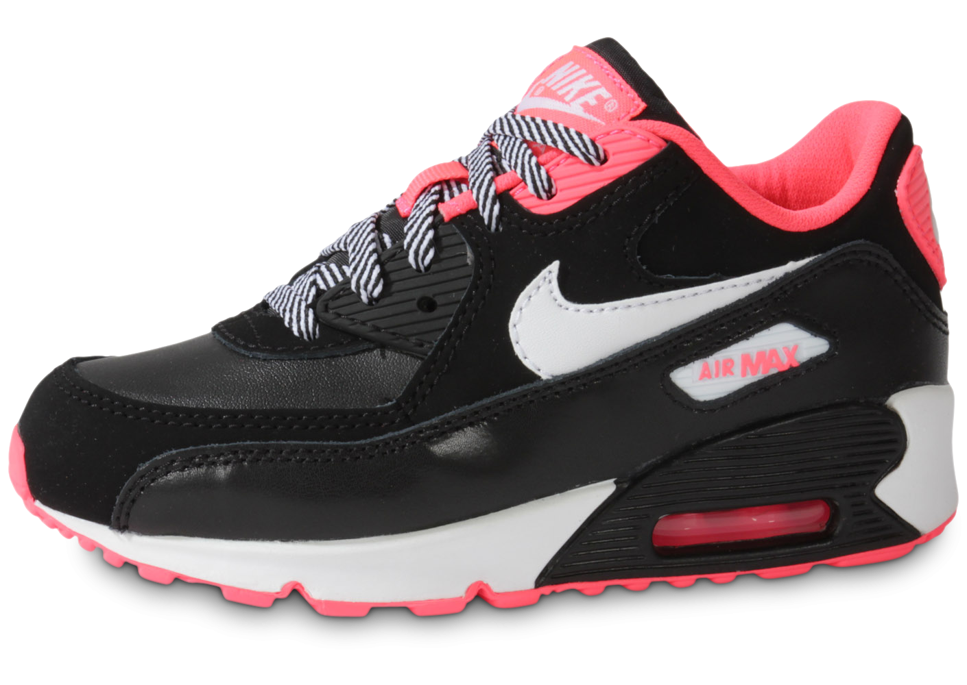 100% Authentique air max femme rose noir et blanc Outlet en